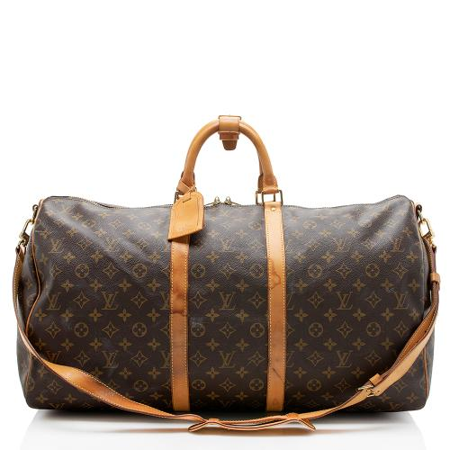 Louis Vuitton Monogram Canvas Keepall 55 Bandouliere Duffel Bag