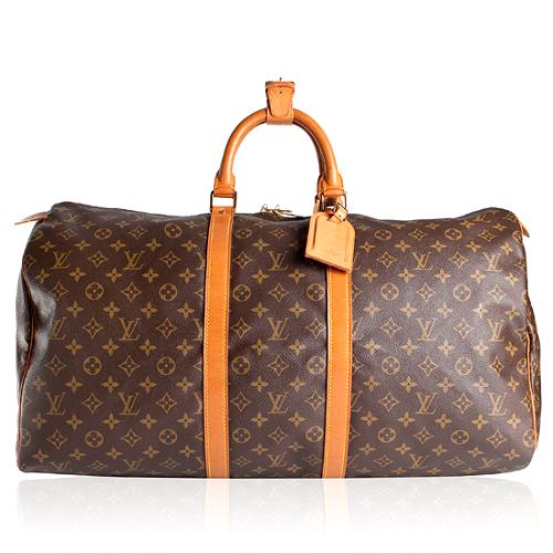 Louis Vuitton Monogram Canvas Keepall 55 Duffel Bag