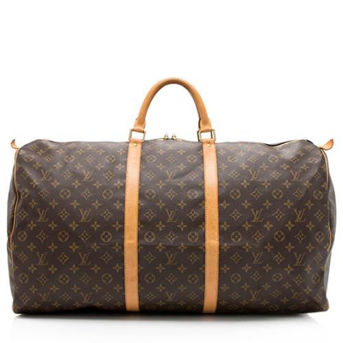 Louis Vuitton Monogram Canvas Keepall 60 Duffel Bag