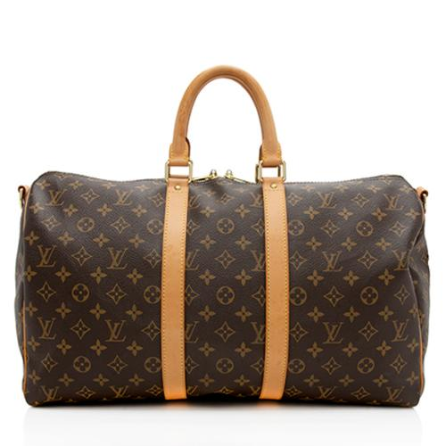 Louis Vuitton Monogram Canvas Keepall Bandouliere 45 Duffel Bag