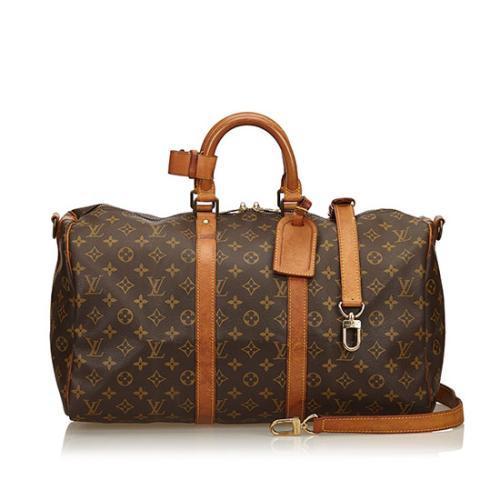 Louis Vuitton Monogram Canvas Keepall Bandouliere 45 Duffle Bag