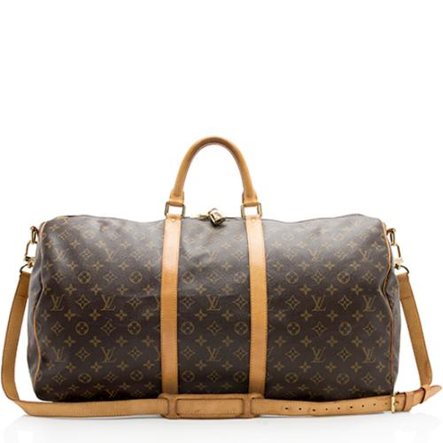 Louis Vuitton Monogram Canvas Keepall Bandouliere 55 Duffel Bag