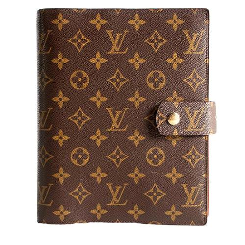 Louis Vuitton Monogram Canvas Large Ring Agenda Cover