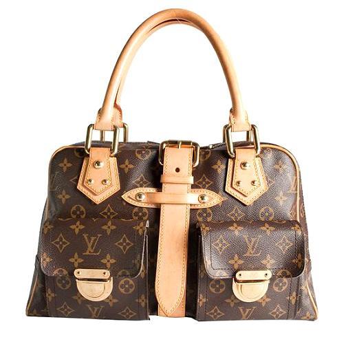 Louis Vuitton Monogram Canvas Manhattan GM Satchel Handbag