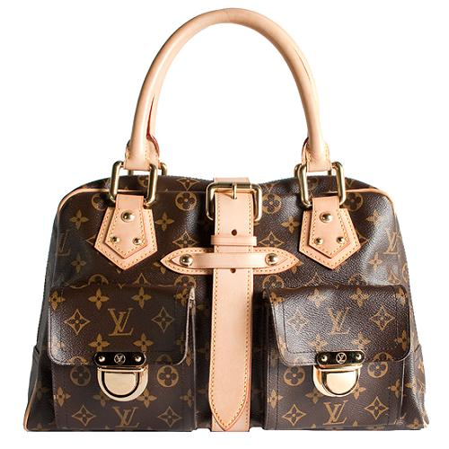 Louis Vuitton Monogram Canvas Manhattan GM Satchel Handbag