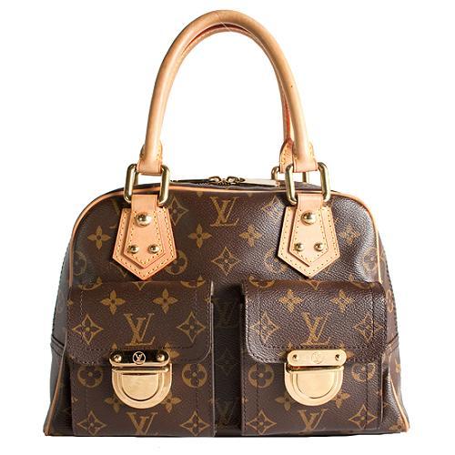 Louis Vuitton Monogram Canvas Manhattan PM Satchel Handbag