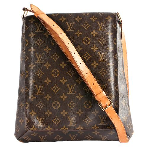 Louis Vuitton Monogram Canvas Musette GM Shoulder Handbag