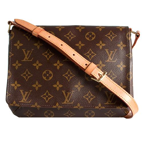Louis Vuitton Monogram Canvas Musette Tango Shoulder Handbag