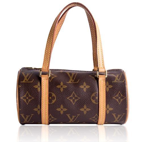 Louis Vuitton Monogram Canvas Papillon 19 Satchel Handbag