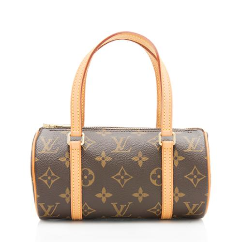 Louis Vuitton Monogram Canvas Papillon 19 Satchel