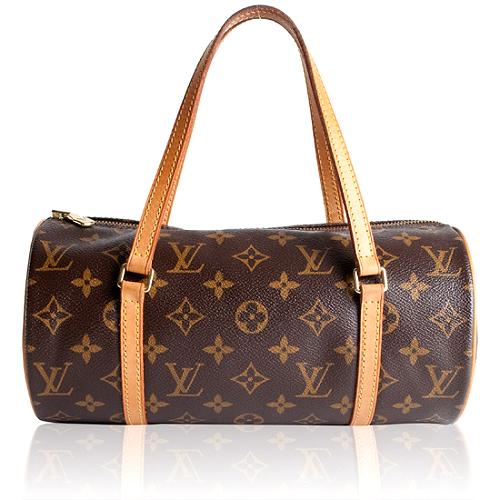Louis Vuitton Monogram Canvas Papillon 26 Satchel Handbag
