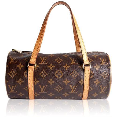 Louis Vuitton Monogram Canvas Papillon 26 Satchel Handbag