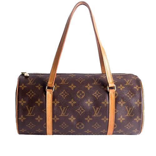 Louis Vuitton Monogram Canvas Papillon 30 Satchel Handbag