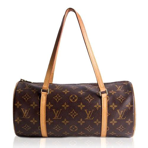 Louis Vuitton Monogram Canvas Papillon 30 Shoulder Handbag