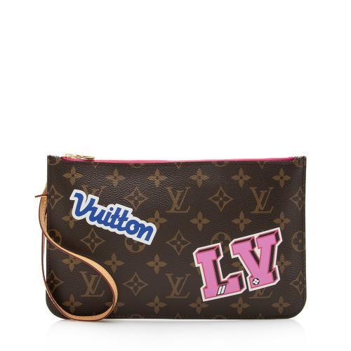 Louis Vuitton Monogram Canvas Patches Neverfull MM Pochette