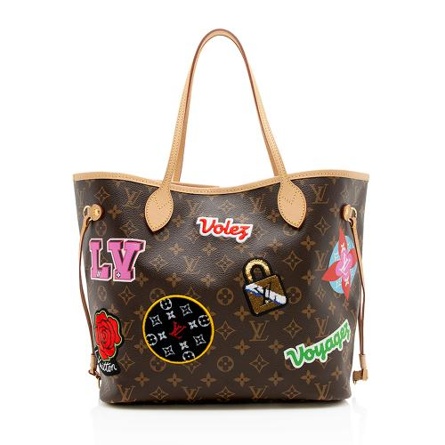 Louis Vuitton Monogram Canvas Patches Neverfull MM Tote