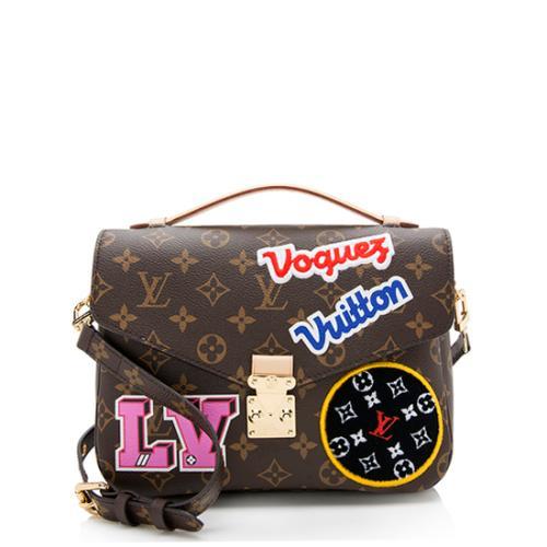 Louis Vuitton Monogram Canvas Patches Pochette Metis Shoulder Bag