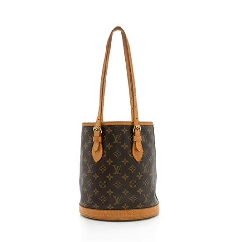 7dbd761b2ab4 Louis Vuitton Monogram Canvas Petit Bucket Tote