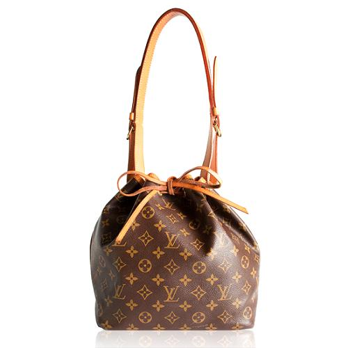 Louis Vuitton Monogram Canvas Petit Noe Shoulder Handbag