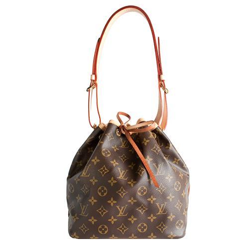 Louis Vuitton Monogram Canvas Petit Noe Shoulder Handbag