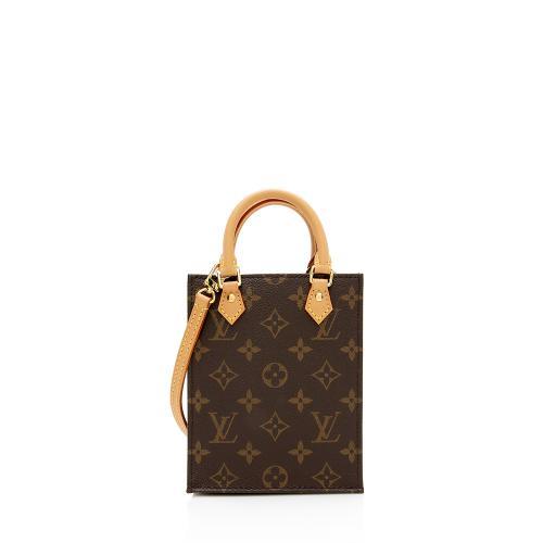 Louis Vuitton Monogram Canvas Petit Sac Plat Shoulder Bag