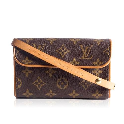Louis Vuitton Monogram Canvas Pochette Florentine Handbag