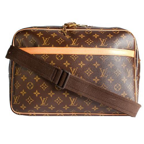 Louis Vuitton Monogram Canvas Reporter GM Messenger Bag