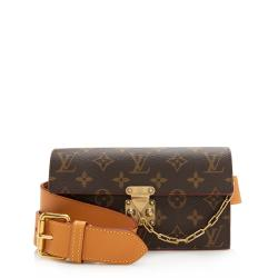 Louis Vuitton Monogram Canvas S Lock Belt Bag