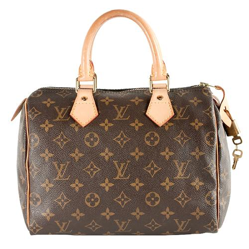 Louis Vuitton Monogram Canvas Speedy 25 Satchel Handbag