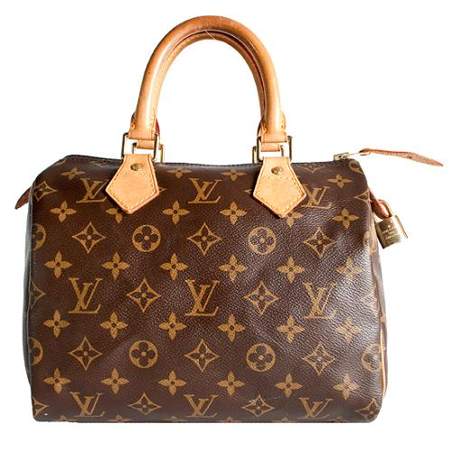 Louis Vuitton Monogram Canvas Speedy 25 Satchel Handbag