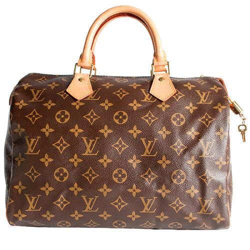 Louis Vuitton Monogram Canvas Speedy 30 Satchel Handbag