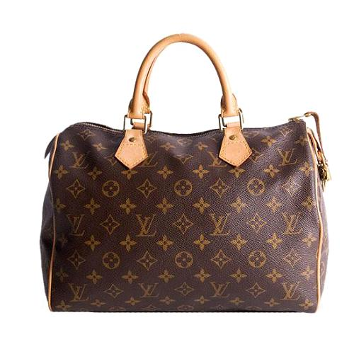 Louis Vuitton Monogram Canvas Speedy 30 Satchel Handbag