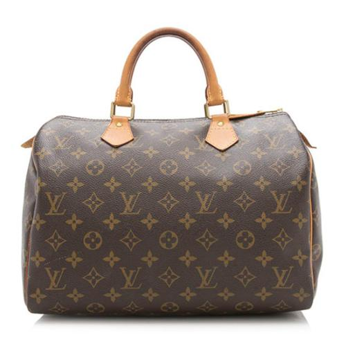 Louis Vuitton Monogram Canvas Speedy 30 Satchel