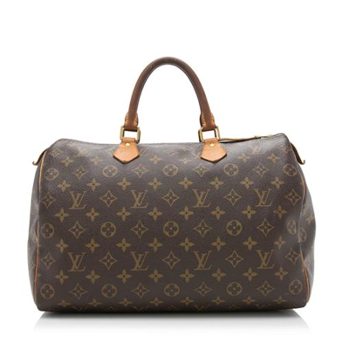 Louis Vuitton Monogram Canvas Speedy 35 Satchel - FINAL SALE