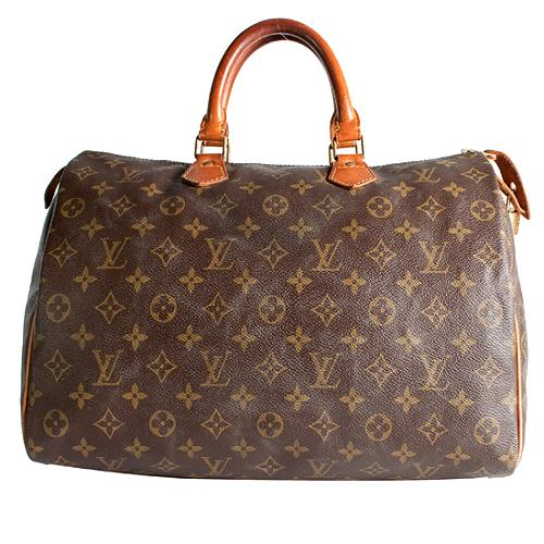 Louis Vuitton Monogram Canvas Speedy 35 Satchel Handbag