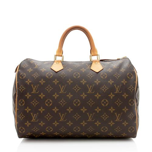 Louis Vuitton Monogram Canvas Speedy 35 Satchel