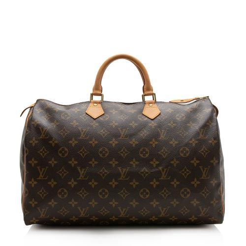 Louis Vuitton Monogram Canvas Speedy 40 Satchel