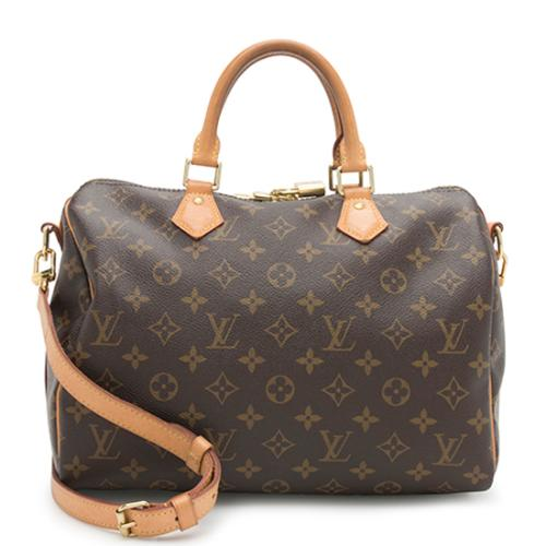 Louis Vuitton Monogram Canvas Speedy Bandouliere 30 Satchel