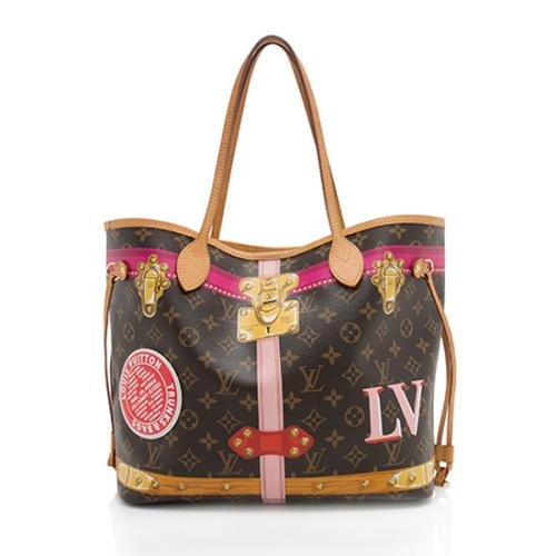 Louis Vuitton Monogram Canvas Summer Trunk Neverfull MM Tote