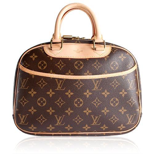 Louis Vuitton Monogram Canvas Trouville Satchel Handbag