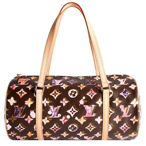 Louis Vuitton Monogram Canvas Watercolor Papillon 30 Satchel Handbag
