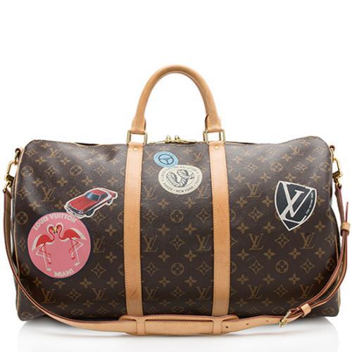 Louis Vuitton Monogram Canvas World Tour Keepall 50 Bandouliere Duffel Bag