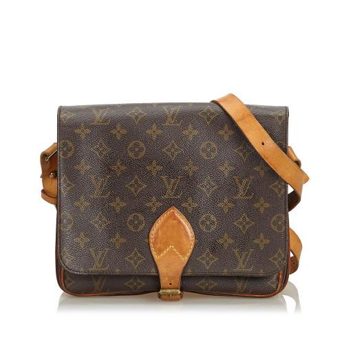 Louis Vuitton Vintage Monogram Canvas Cartouchiere MM Shoulder Bag - FINAL SALE