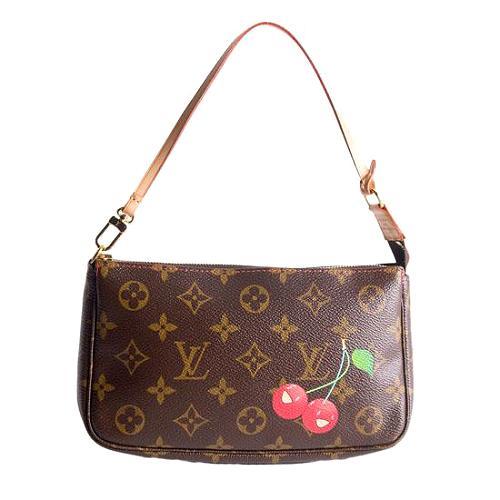 Louis Vuitton Monogram Cerises Pochette Accessories Handbag