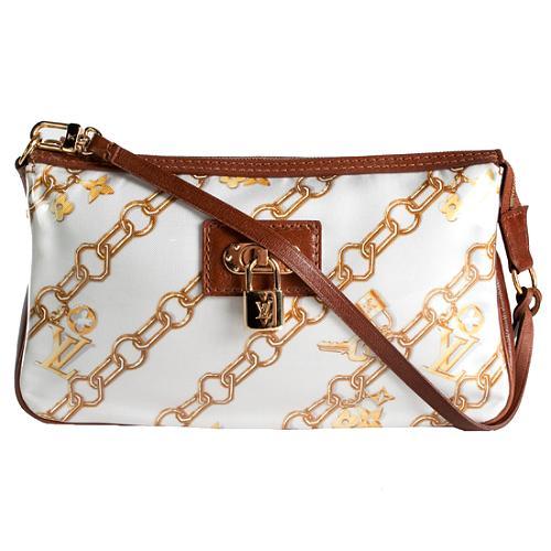 Louis Vuitton Monogram Charms Pochette Shoulder Handbag