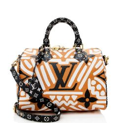 Louis Vuitton Monogram Crafty Speedy Bandouliere 25 Satchel