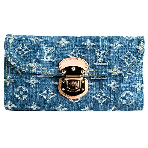 Louis Vuitton Monogram Denim Amelia Wallet