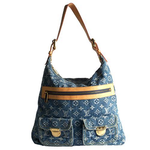 Louis Vuitton Monogram Denim Baggy GM Shoulder Handbag