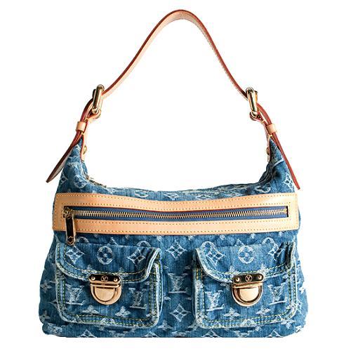 Louis Vuitton Monogram Denim Baggy PM Shoulder Handbag