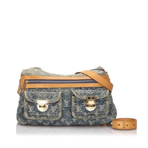 Louis Vuitton Monogram Denim Baggy PM Shoulder Bag